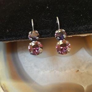 Sabika smokey & pink earrings GUC
